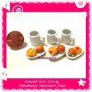 TEA TIME SET - HANDMADE POLYMER CLAY FOOD FOR DOLLS HOUSE OR MINIATURISTS ECDMF-BK4005
