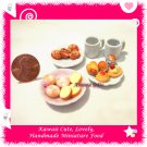 AFTERNOON TEA DONUT SET - HANDMADE POLYMER CLAY FOOD FOR DOLLS HOUSE OR MINIATURISTS ECDMF-BK4004