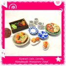 PIZZA PICNIC SET - HANDMADE POLYMER CLAY FOOD FOR DOLLS HOUSE OR MINIATURISTS ECDMF-BK4002