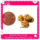 MINIATURE WALNUT PECAN COOKIES SET - HANDCRAFTED FOOD FOR DOLLS HOUSE OR MINIATURISTS ECDMF-CC2004