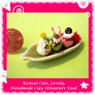 ICE CREAM SUNDAE DESSERT - HANDMADE CLAY MINIATURE FOOD FOR DOLLS HOUSE ECDMF-IC3001