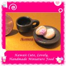 MINIATURE DONUT PLATE SET - HANDMADE POLYMER CLAY FOOD FOR DOLLS HOUSE OR MINIATURISTS ECDMF-BK1006
