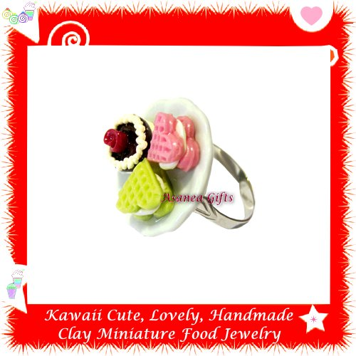 Miniature Sweet Pastry Ring - ECMFJ-RG3002