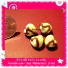 DOLLHOUSE CHOCOLATE DRIZZLED HEART PUFF PASTRIES 4 PCS (ECDMF-CC1036)