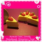 DOLLS HOUSE MINIATURE STRAWBERRY SHORTCAKE 5 PC SET (DMF-CC1002)