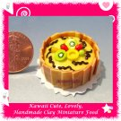 DOLLHOUSE MINIATURE PINEAPPLE FRUIT CAKE W/ CHOCOLATE (ECDMF-CK3022)