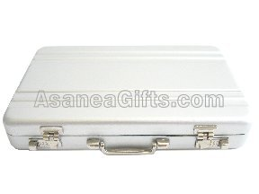 WHOLESALE DISCOUNT - BUSINESS CARD CASE / CREDIT CARD HOLDER - BRIEFCASE DESIGN SILVER (100 PCS)
