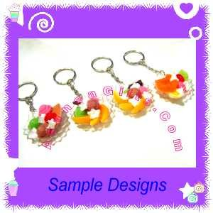 EYELICIOUS FOOD JEWELRY - ICE CREAM DESSERT PENDANT CHARM WITH FREE SHIPPING