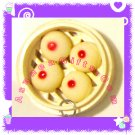 KAWAII CUTE FOOD JEWELRY - CHINESE DIM SUM RED BEAN PASTE BUN PENDANT CHARM