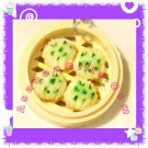 FOOD JEWELRY - CHINESE DIM SUM GREEN SCALLION VEGGIE BUN PENDANT CHARM WITH FREE SHIPPING