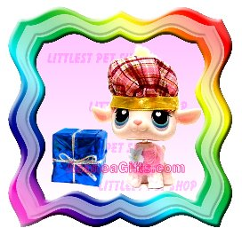 NEW ! LITTLEST PET SHOP AROUND THE WORLD SERIES LOOSE FIGURE - SCOTLAND SCOTTISH LAMB / SHEEP # 396