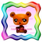 NEW ! LITTLEST PET SHOP AROUND THE WORLD SERIES LOOSE FIGURE - CUDDLY BROWN BEAR # 395
