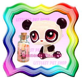 NEW ! LITTLEST PET SHOP AROUND THE WORLD SERIES LOOSE FIGURE - MINIATURE CHINESE PANDA BEAR # 387