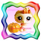 LITTLEST PET SHOP LOOSE FIGURE - HALLOWEEN OWL # 431 WITH FREE MINI PUMPKIN ! BRAND NEW