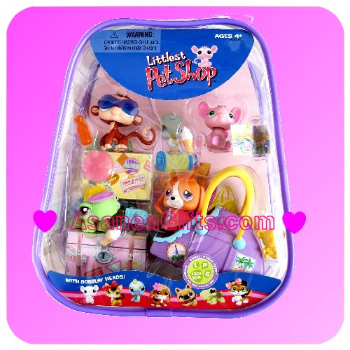 LITTLEST PET SHOP SWEET N NEAT PLAYSET BEAGLE MOUSE TURTLE MONKEY ECLPS-SWNT