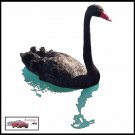 BLACK SWAN CANVAS ART PRINT