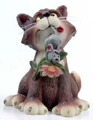 Cats Whiskers Collectable Figure - Cat 'n' Mouse