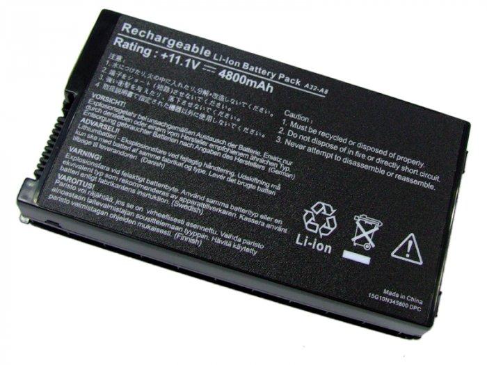 6 Cell Battery for Asus A32-A8 Z99 Z99Sc X80 X83 X83V X83Vb X83Vm A8E A8F A8Fm