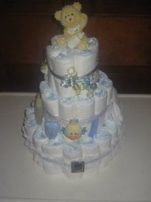 Mom's Picture Frame Diaper Cake