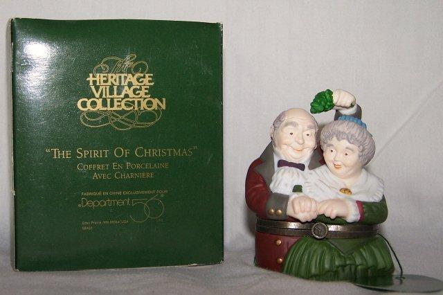 "Dept 56 ""The Spirit of Christmas"" Porcelain Hinged Box"
