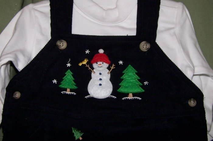 NEW GOODLAD Boys Winter 2 Piece Outfit Snowman NWT 6/9M
