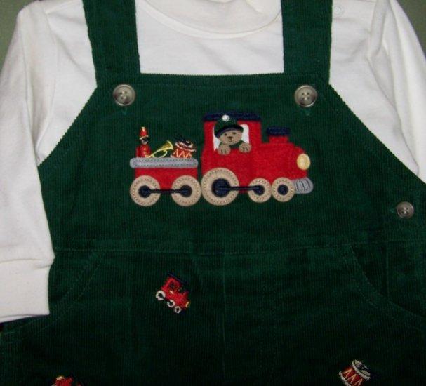 GOODLAD Boys Winter Outfit 2 Piece Train NWT 6/9M