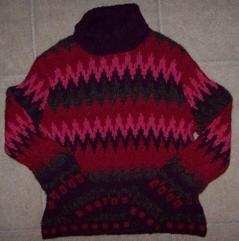 Petite Sophisticate Bright Bold Turtleneck Sweater S