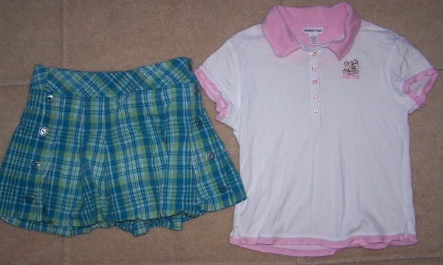 Girls LIMITED TOO Outfit Set Lot/2 Skort Top Summer 10