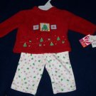 Baby Girls Infant Christmas Tree Holiday 2PC Outfit 0/3M
