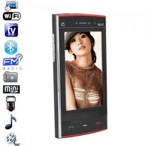 Quad Band 3.0 Inch Touch Screen Cell Phone with Analog TV, WIFI and JAVA
