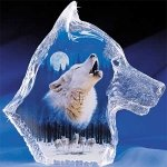 """""""Midnight Call"""" From """"The Spirt Within"""" Hamilton Collection Glass Wolf"""