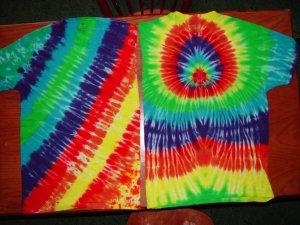 Tye Dye Adult Tee Shirts Lot of 2 Size Large