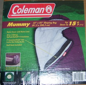 Colman Mummy bag Dupont holofil 808 insulation +15 degree
