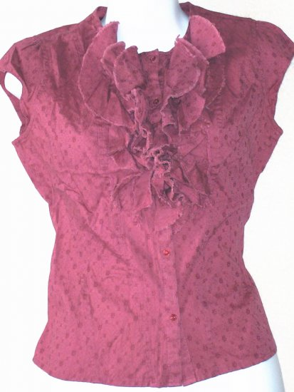 ELEVENSES  Womens dark pink/rose blouse  Size 4