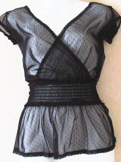 TWENTY ONE  Womens/Juniors sheer black top  Size small