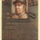 Duke Snider Autographed HOF Postcard! Dodgers