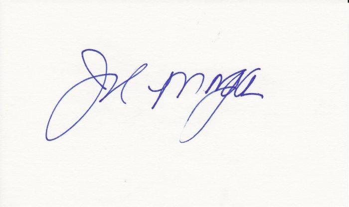 Joe Morgan Autograph Signed Index card! Cincinnati Reds HOF