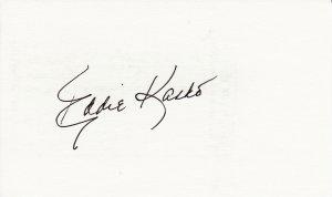 Eddie Kasko Autograph Signed index card! Boston Red Sox