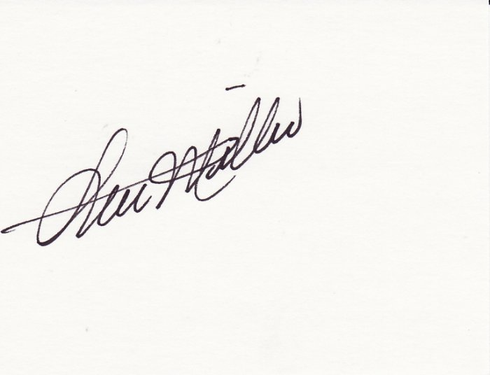 Stu Miller Autograph Signed Index Card! Orioles Yankees Mickey Mantle