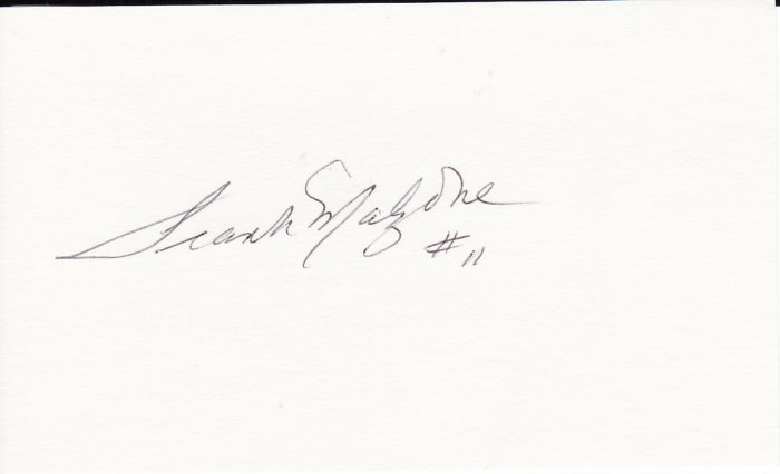 Frank Malzone Autograph Signed Index Card! Boston Red Sox
