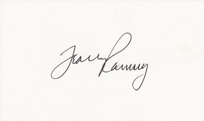 Frank Ramsey Autograph Signed Index Card! Boston Celtics HOF