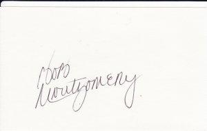 Bob Montgomery Autograph! Boston Red Sox Signed