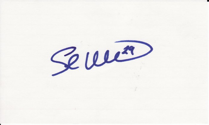Shea Hillenbrand Autograph Signed Index Card! Boston Red Sox