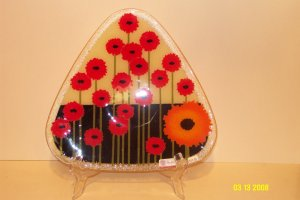 Floral Tempered Glass Plate