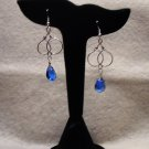 LC984E - Capri Blue Swaroski Earrings