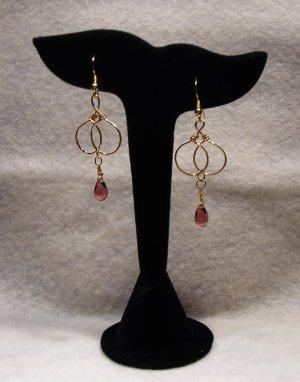 LC980E - Double Looped Purple Earrings