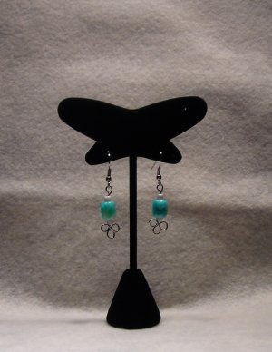 LC991E - Sea Green Beaded Earrings