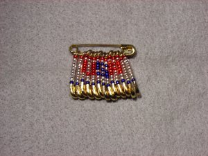 LC801F - Med Patriotic friendship pins (clear style)