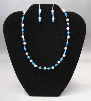 LC976S - Capri Swarovski Necklace and Earring Set
