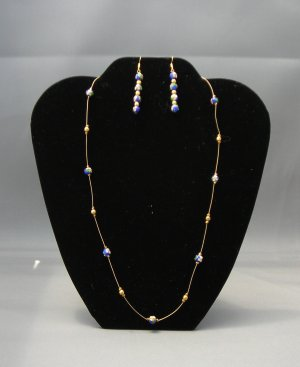 LC948S - Cloisonne Beaded Necklace and Earring set